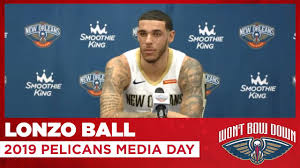 Lonzo Ball Interview from 2019 Pelicans ...