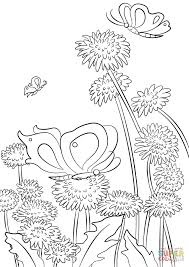 Small Picture Butterflies and Flowers coloring page Free Printable Coloring Pages