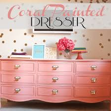 pink painted furniture. Coral-painted-dresser Pink Painted Furniture