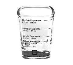 espresso shot glass square