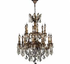 bronze and crystal chandelier. Bronze Crystal Chandelier W83350b27 Gt Versailles 18 Light Antique Finish And Golden Home Designing Inspiration H