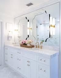 art deco mirrors on bathroom vanity