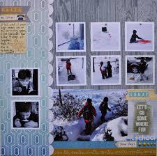 Scrapbooking Snow: Hello! No School! - ScrapInspired.com