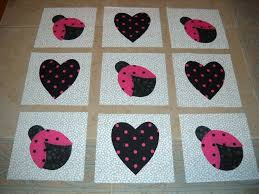 96 best LADYBUG QUILT images on Pinterest | Kid quilts, Cake smash ... & 9 Pink Ladybug and Black Hearts Quilt Blocks by MarsyesQuiltShop Adamdwight.com