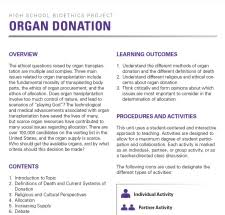 donation essays organ donation essays