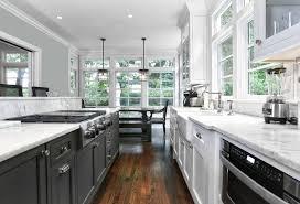 white galley kitchens. Fine White Black And White Galley Kitchen And Kitchens K