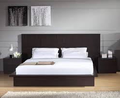 modern king bed frame. Modern Grey Wall King Size Bed With Black Frame On The O