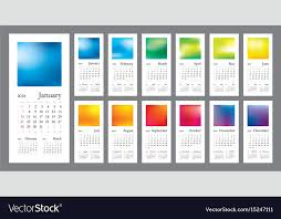 creative calendar. Unique Creative 2018 Creative Calendar Vector Image To Creative Calendar VectorStock