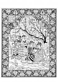 Small Picture Oriental Coloring pages for adults JustColor
