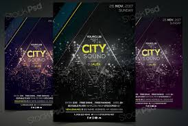 Free Editable Flyer Templates City Sound Free Psd Event Flyer Template Free Flyer Template