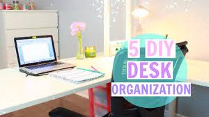 Desk Organization 5 Desk Organization Ideas On A Budget Youtube