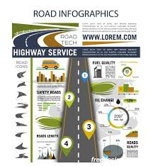 Traffic Road Infographic Template Vector 02 Free Download