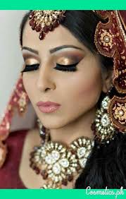 bridal red eye makeup indian 2017 golden and