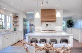 cottage kitchen ideas. Cottage Kitchen With White Cabinets, Tile Backsplash And Long Breakfast Bar Island Ideas