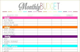 Personal Monthly Budget Spreadsheet Personal Monthly Budget Template Free Pdf Seall Co