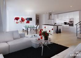 Living Room Black Gray And Red Living Rooms Impressive Living