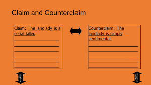 "argument ""essay"" instructions thesis thesis in ""the landlady"" by  claim and counterclaim claim the landlady is a serial killer"