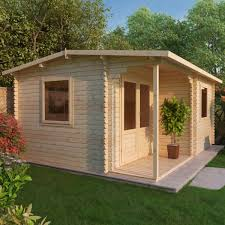 home office cabin. 5.8m X 5m Executive Log Cabin Home Office