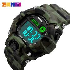 <b>Men</b> Green Camouflage Case <b>Watch Outdoor</b> Sport Digital <b>Watch</b> ...