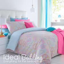 paisley multi colour duvet quilt bedding cover and pillowcase bedding set