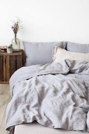 free light grey stone washed linen by linentalesinbed with duvet decor 4