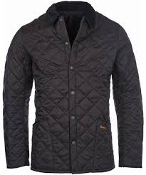 Men's Barbour Heritage Liddesdale Quilted Jacket & Mens Barbour Heritage Liddesdale Jacket - Black Adamdwight.com