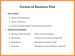 Business Plan Cover Page Example Principal Sample Template 5