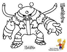 Small Picture Pokemon Coloring Pages Electivire 1 olegandreevme