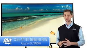 Sony 70 inch LED 1080P 3D HDTV KDL70W850B Overview - YouTube
