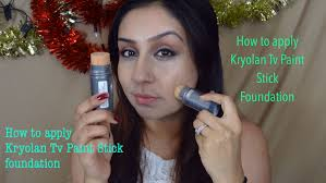 how to apply use kryolan tv paint stick foundation makeup with raji you