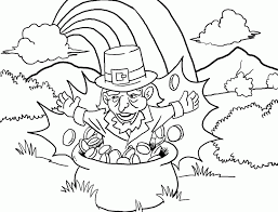 Small Picture leprechaun in pot of gold coloring page coloringcom