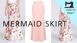 Mermaid Skirt Pattern Stunning Easy Drafting Mermaid Skirt Pattern How To Draft Mermaid Skirt
