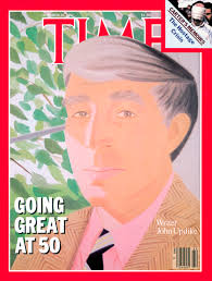 john updike academy of achievement time magazine cover depicts an illustration of author john updike by alex katz the headline