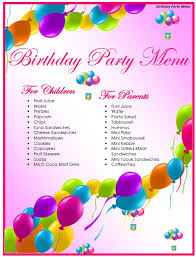 Choose from a huge selection of free printable birthday invitations. 7 Free Sample Birthday Menu Templates Printable Samples