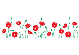 poppy field wall decal cute flower home decoration