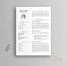 Modern Resume Template Cv For Microsoft Office Word Pages Curriculum Vitae Cover Letter Reference Letter Professional And Creative