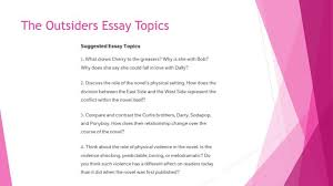 the outsiders essay the outsiders essay power point cm org ppt stem powerpoint presentation id 6415143 view larger the outsiders essay rubric