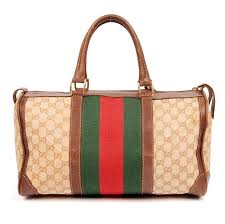 gucci bags brown. gucci vintage boston speedy web monogram 5228 brown travel bag (authentic pre-owned) bags