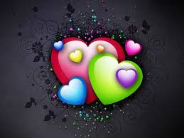 3d colorful heart wallpapers. Interesting Colorful Colorful Hearts Inside 3d Heart Wallpapers E