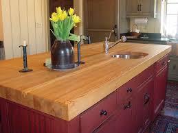 image of wood kitchen countertops finish
