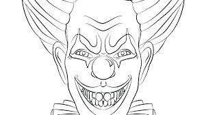 Printable Pennywise The Clown Coloring Pages Of Scary Clowns