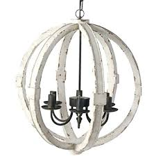distressed white wood chandelier sphere indoor outdoor washed within good looking w