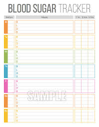 blood sugar tracker printable for health cal fitness blood glucose log instant