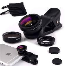 Universal Fisheye 3 in 1 Wide Angle Macro Lens Smartphone Mobile Phone lenses Fish Eye for