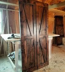interior double doors. Interior Double British Brace Barn Door Package - Doors Sliding Wooden Farmhouse Style