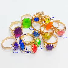 Vending Machine Filler Adorable 48 Pcs Metal Gold Girl Gem RINGS VENDING MACHINE TOYS Pinata Bag