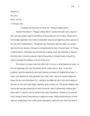 young goodman brown essay co young goodman brown essay