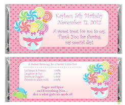 Personalized candy land candy bar wrapper