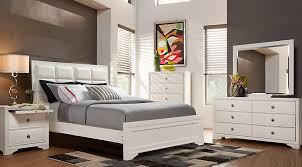 Belcourt White 5 Pc Queen Upholstered Bedroom