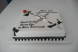 Good Luck Cake Designs A Cake For A Family Emigrating To New Zealand Travel Cake